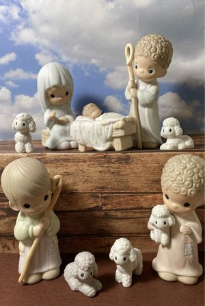 Precious Moments Nativity 9pcs IOB for Sale in Santee, CA