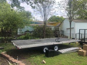 Aluminum toy hauler trailer 14x 8 for Sale in Richardson, TX