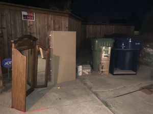 Free Mirror, File Cabinet, tile, Xmas tree, shelf. for Sale in Garland, TX