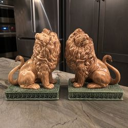 Vintage Fitz and Floyd Lion Bookends for Sale in Santa Ana,  CA