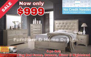 4 pc King Bedroom set for Sale in Visalia, CA