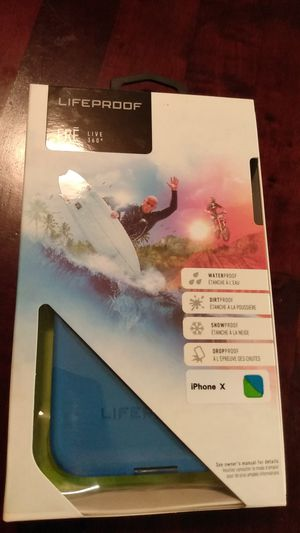 iPhone X & Xs LifeProof (Blue/Green) for Sale in Citronelle, AL