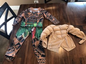 Maui (Moana) Halloween Costume with Muscle Undershirt 3-4T for Sale in Medinah, IL