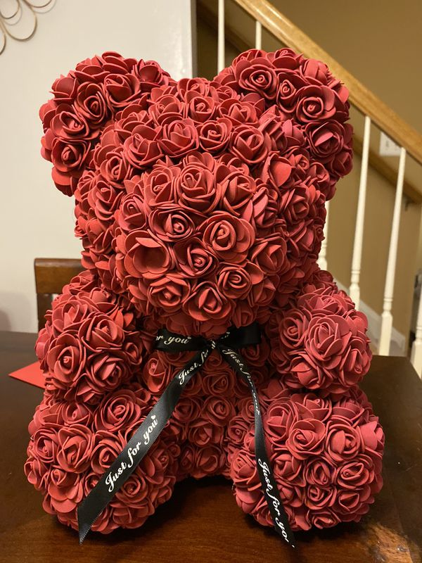 Red rose teddy bear Valentine's Day gift