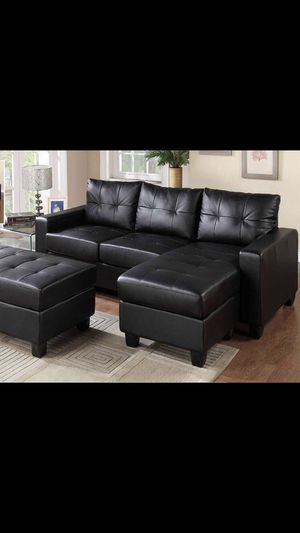 Brand New Sofa Sectional In Black Color , Furniture Sale, Sectional > Visit Us for Sale in Norwood, MA