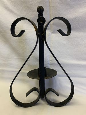 Black, Metal tapered candle sconce for Sale in Coyville, KS