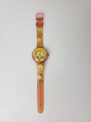 Vintage Armitron Quartz 2000 Warner Bros Tweety Bird Watch pink plastic glitter for Sale in Orlando, FL