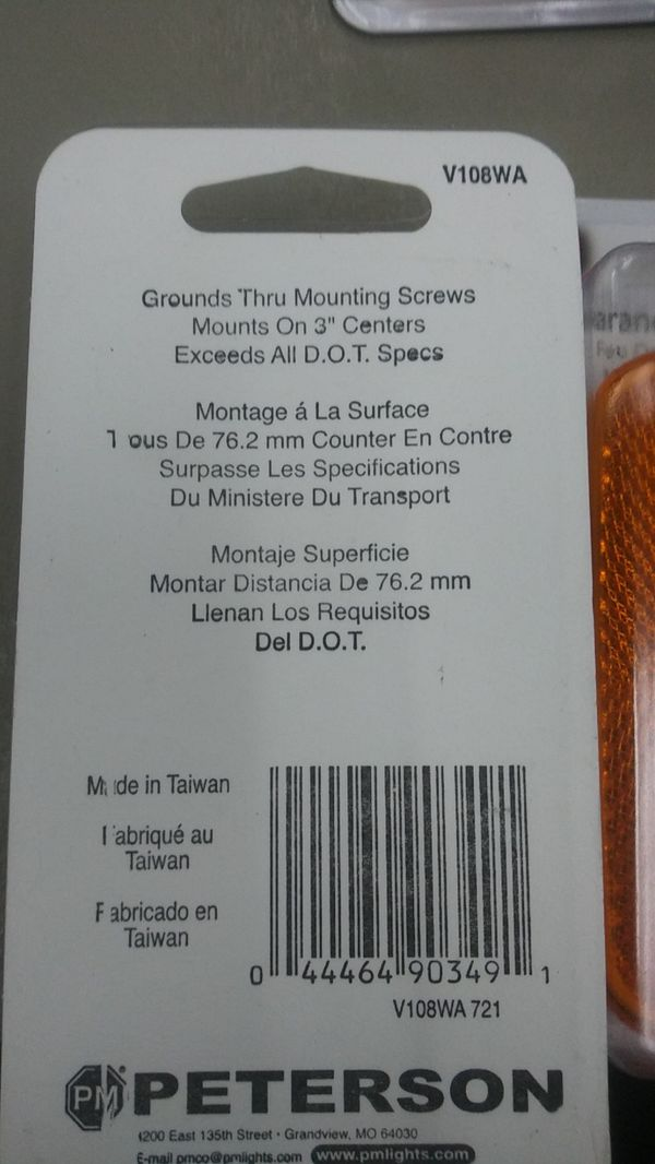 PM Clearance Marker Light Orange