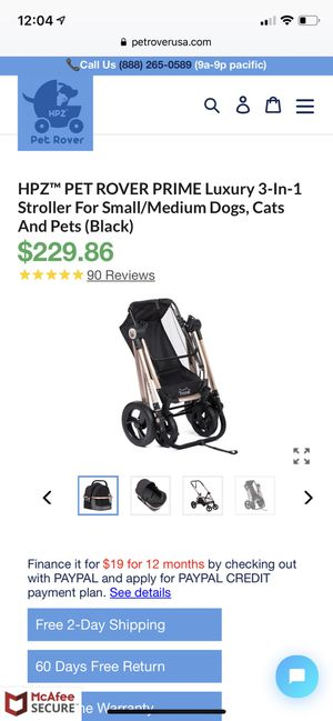 Luxury Pet Stroller & Car Seat BRAND NEW for Sale in Upper Marlboro, MD