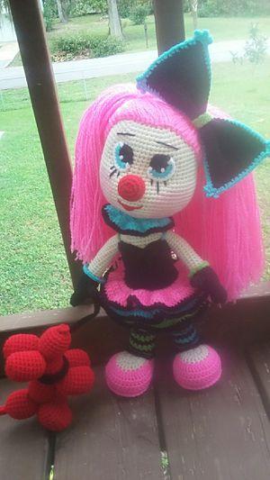 Crochet Ms. Clown Doll w/ Balloon Dog Pet for Sale in Edgewater, FL