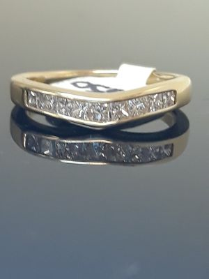 14k Yellow Gold Princess Cut Diamond Wedding Band Ring Size 6 for Sale in Port St. Lucie, FL