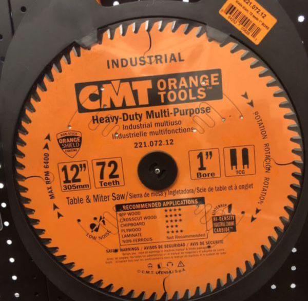 "12"" Industrial Cabinetshop Blades chipboard, MDF, laminate, hardwood and plywood"