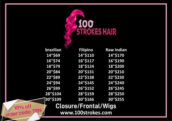 100 strokes hair