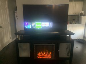55 inch Samsung Smart TV Curved (with or without fireplace stand for Sale in Vancouver, WA