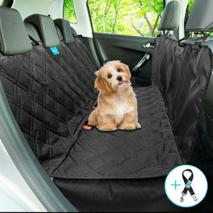 Brand New!! Dog seat cover hammock convertible 100% waterproof luxury quilted material stylish look machine washable seat belt leash included for Sale in Brooklyn, NY