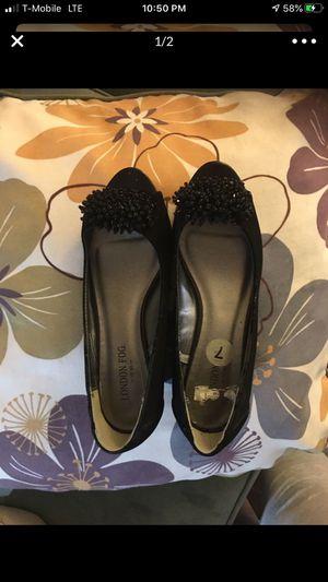 Women's London Fog Open Toe Shoe (Black) for Sale in Garden Grove, CA