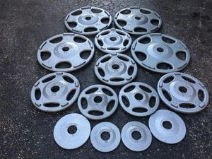HAMPTON SET OF PROFESSIONAL EASY GRIP PLATES : (FOUR) 45s. (FOUR) 25S.s. / PAIRS OF. 10s. 5s. 2.5s for Sale in Deerfield Beach, FL
