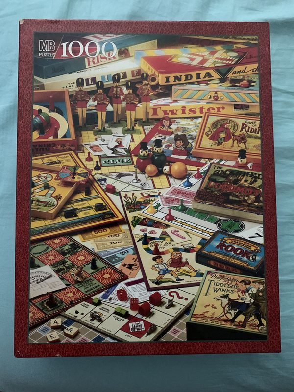 The Games Of Your Life 1000 Piece Puzzle MB Vintage 1995 Jigsaw Puzzle