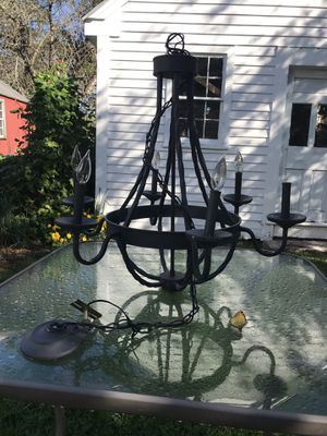 Metal hanging chandelier for Sale in Groton, CT