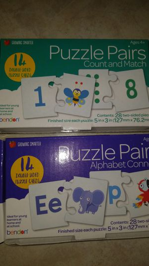 Puzzle pairs learning games puzzles for Sale in Miami, FL