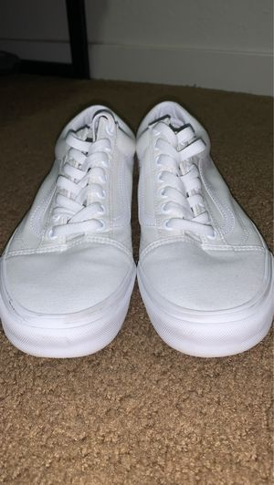 VANS Canvas Old skool True white size 9.5 for Sale in San Francisco, CA