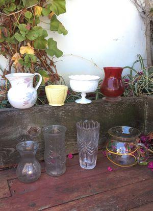 8 pieces glassware/ceramic bundle for Sale in Lemon Grove, CA