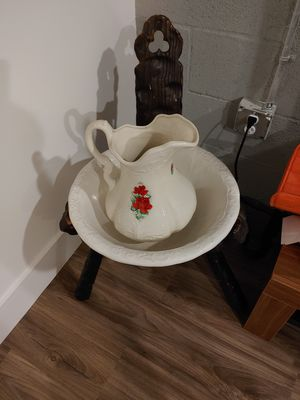 Victorian Water Basin and Bowl for Sale in Lake Worth, FL