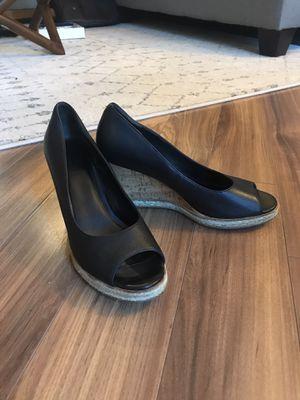 Cole Haan Jocelyn Wedges - Black Leather Size 9 for Sale in Alexandria, VA