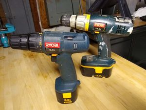 Ryobi drills without charging base for Sale in Tinton Falls, NJ