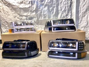 99-02 Chevy Silverado LED headlights for Sale in Los Angeles, CA