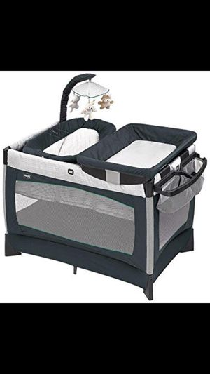 Chicco play yard, bed,diaper changing area,good condition! New one is $239.00 plus tax. for Sale in Houston, TX