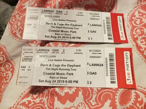 BECK & CAGE THE ELEPHANT tickets for Sale in Durham, NC