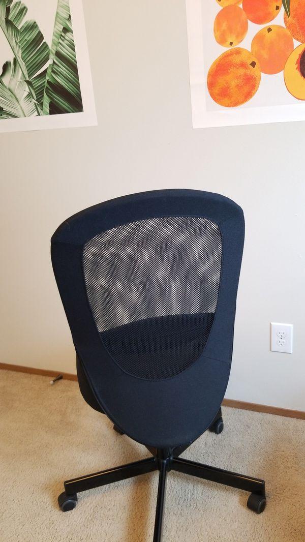 Free armless computer chair