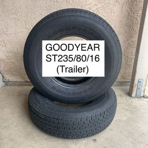 Trailer tires ST 235/75/16 for Sale in Rancho Cucamonga, CA