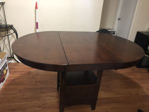 Counter height solid wood table for Sale in NO POTOMAC, MD