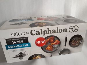 Calphalon 14pc. Cookware Set Hard-Anodized ,Nonstick,Dishwaher safe . NEW for Sale in Kent, WA