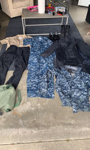 Navy uniforms and sea bag items for Sale in Norwalk, CA