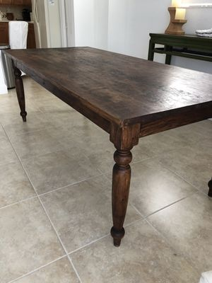 Beautiful solid wood crate and barrel dining table for Sale in Plainfield, NJ