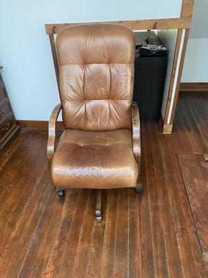 Leather desk chair for Sale in Salt Lake City, UT