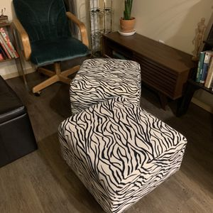 2 Zebra Print Foot Stools for Sale in Seattle, WA