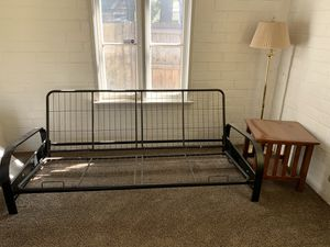 Futon Frame, Lamp and End Table for Sale in Yucaipa, CA