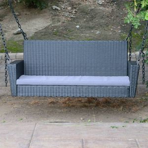 "Black - 54.5"" Patio Porch Swing Chair Bench Wicker Tree Ceiling Hanger for Sale in South El Monte, CA"