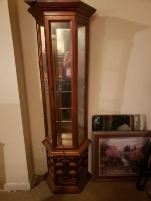 Lighted curio cabinet for Sale in Chester, PA