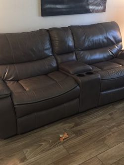 Genuine Leather Couches 2x for Sale in St. Petersburg,  FL