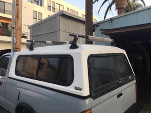 Tacoma Camper Shell with Thule Surf Racks for Sale in San Diego, CA