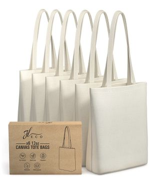 (6) Brand New Canvas Totes for Sale in Tacoma, WA