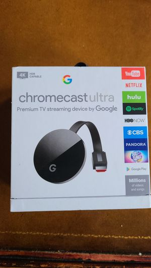 Chromecast Ultra (Compatible with Stadia) for Sale in Chicago, IL