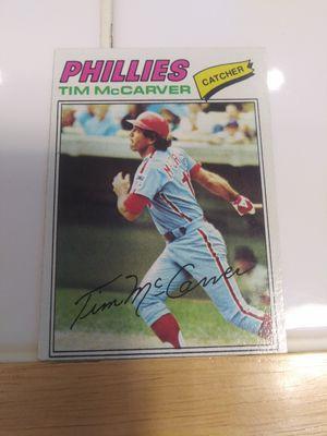 1977 Topps Phillies Tim McCarver baseball card #357 for Sale in Las Vegas, NV