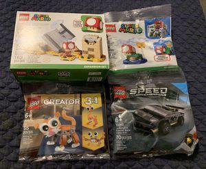LEGO HTF Sets - Super Mario Monty Mole & Super Mushroom 40414 PLUS 3 MORE - 30385, 30574, 30342 for Sale in Houston, TX