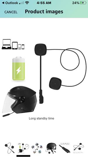 Motorcycle Bluetooth Helmet headset pairs with phone and pairs with other riders for communicating New Model HiFi speakers and Mic RECHARGEABLE for Sale in San Francisco, CA